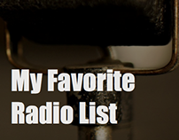 My Favorite Radio List app for apple store