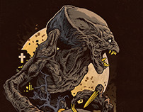 Pumpkinhead DVD boxart illustration