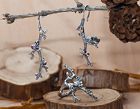 "Jewelry set ""Branches"""