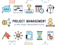 Project Management Vector Free Icon Set