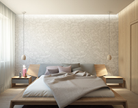 Bedroom for scandinavian house