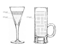 Information Graphic Cocktail Illustrations