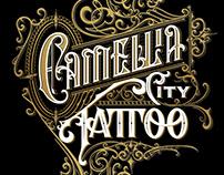 Tattoo Shop Handlettered logo design