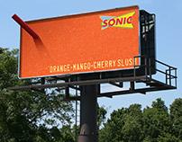 Sonic Drive-In Slush Billboard Campaign