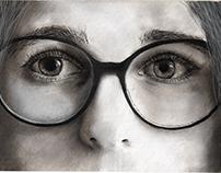 Preparatory Sketch of Portraiture - Nana Kozko.