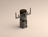 Low poly death totem from until dawn