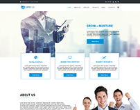 Free Business Web Design PSD