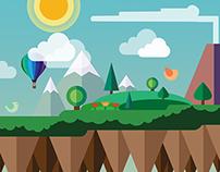 Flat Design Landscape Header