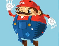 Mario Art Illustration