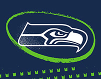 2018 Seattle Seahawks Social Media Design