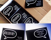 Logo design for Creative Bureau Atelier Hey!