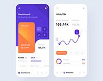 Financial app interface