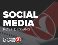 Turkish Airlines - Social Media post designs