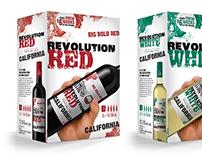 3 litres Revolution blanc et rouge