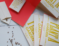 Plant A Garden Letterpress cards