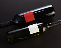 Red and white wine CARRE ROUGE & CARRE BLANC