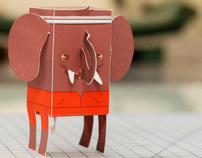 Paper Toy - Jock Elephant
