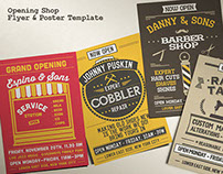 Opening Shop Flyer & Poster Template