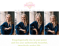 Anna Anderson website design