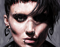The Girl with the Dragon Tattoo - Painting