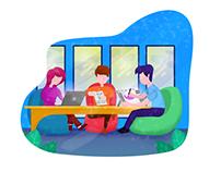 Illustration-Team work