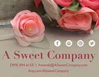 A Sweet Company Bridal Show Postcard