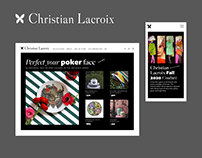 Cristian Lacroix. New Official Website.
