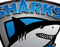 Ice Sharks - ice hockey team logo