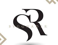 SR Byggnader logo design