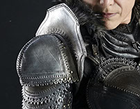 OSSIDIANA: Leather costume for LARP