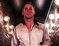 Ryan Gosling - Drive - Portrait - Digital Painting