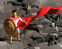 Low poly Sparta!