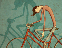 Sorrowful bicycle Rider 2