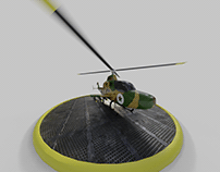 3d Militar Helicopter