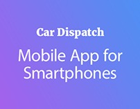 Car Dispatch App UI Design