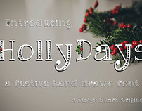 FREE HollyDays Hand Drawn Font