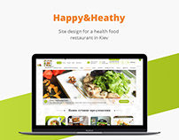 Happy&Heathy/food/restaurant/Web design/UI/UX