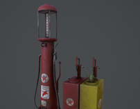 Vintage oil and gas pumps