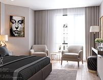 Hotel bedroom Free scene