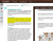 Interactive Textbook App - User Interface Design