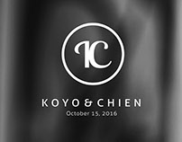 │ Wedding LOGO │ Koyo & Chien