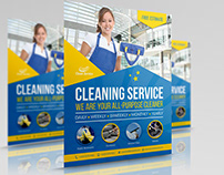 Cleaning Services Flyer Template Vol.4