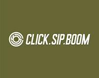 Click, Sip, Boom! Brand Identity