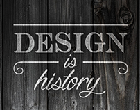Design is History : new website & visual identity