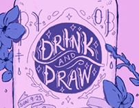 Drink n draw poster