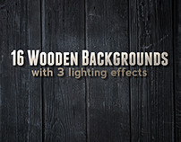 16 Wood Backgrounds / Textures PSD
