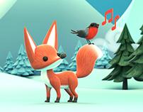 Illustration d'hiver - Winter illustration 3D