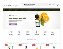 Aroma-zone - Refonte e-commerce - Homepage
