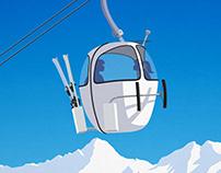 Les 2 Alpes Ski Resort Poster
