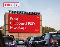 Free Big Billboard PSD Mockup
